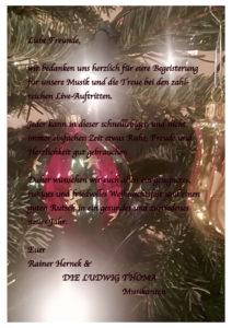 Wir Wünschen Euch Frohe Weihnachten Und Einen Guten Rutsch.Frohe Weihnachten Und Einen Guten Rutsch Ins Neue Jahr Ludwig